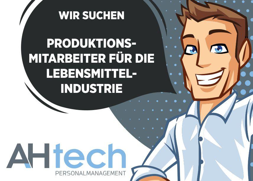 AH Tech sucht Produktionsmitarbeiter für die Lebensmittelindustrie